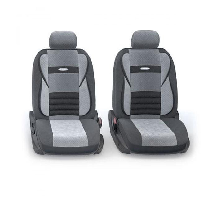 Набор ортопедических авточехлов Autoprofi Comfort Combo, велюр, цвет: темно-серый, светло-серый, 11 предметов. Размер M. CMB-1105 D.GY/L.GY (M) чехол на сиденье autoprofi gob 1105 gy line m