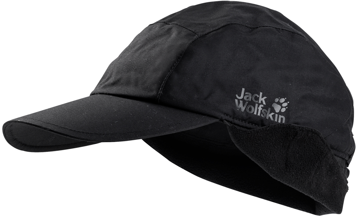 Кепка Jack Wolfskin Texapore Winter Cap, цвет: черный. 1906111-6000. Размер M (54/57)1906111-6000Водонепроницаемая кепка от Jack Wolfskin «Winter Cap» - это зимняя версия классической бейсболки Texapore Winter Cap (Тексапор Винтер Кэп). Водонепроницаемая кепка защитит ваши глаза от солнца, дождя и ветра. Имеет мягкую термоподкладку из флиса, отвороты для ушей и протекторы для шеи. Когда вам станет действительно холодно или подует сильный ветер, просто откиньте отвороты для ушей и протектор для шеи. Если вы активно тренируетесь или рубите дрова во дворе хижины, дышащая ткань Texapore (Тексапор) быстро отведет лишнюю влагу.