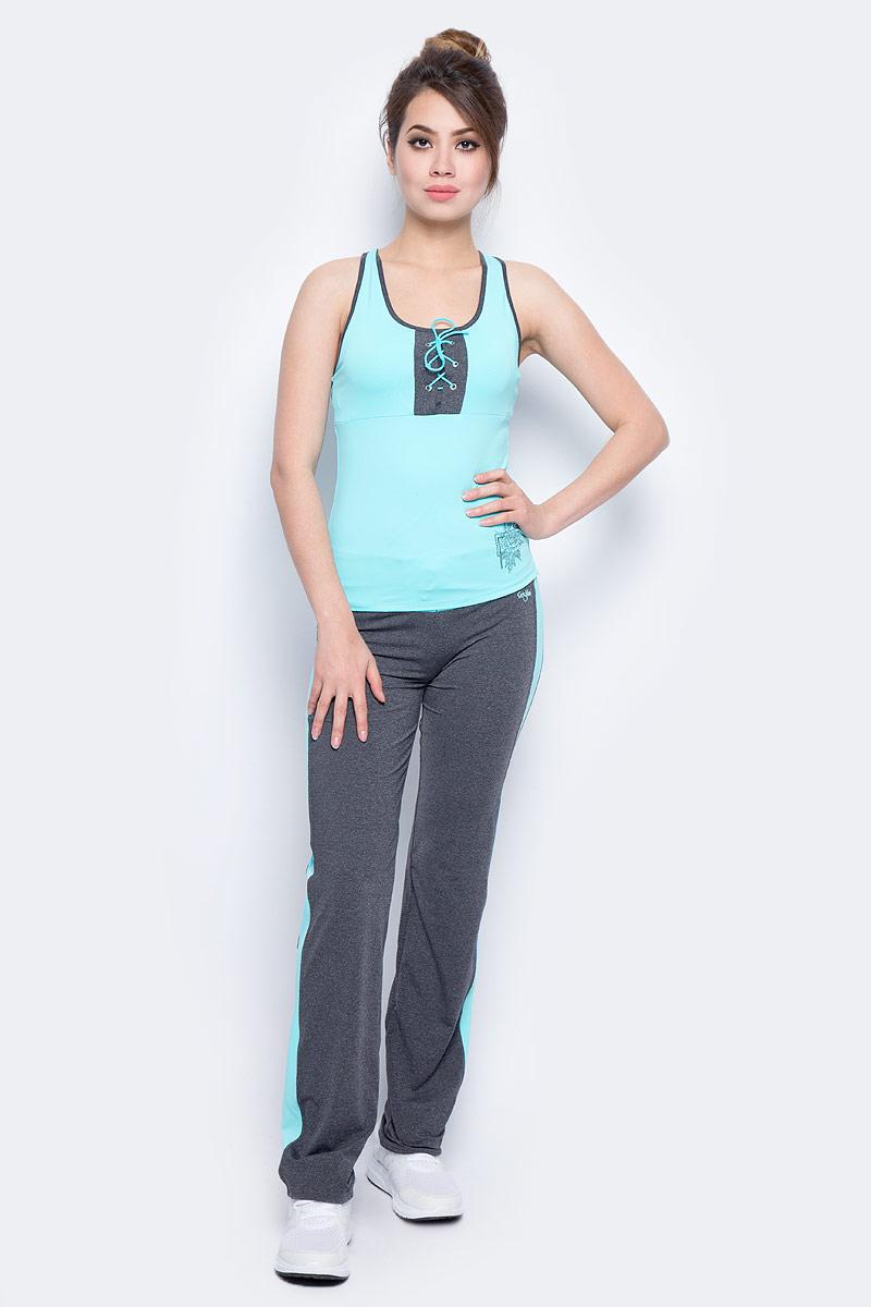 Майка для фитнеса женская Grishko, цвет: голубой. AL- 3202. Размер 48AL- 3202Спортивная майка с дублирующей поддержкой груди и спиной борцовкой. На груди майка украшена контрастной вставкой со шнуровкой. Модель выполнена из шелковистого, приятного на ощупь полиамида с эластаном в оптимальном для спортивных нагрузок сочетании. Майка не сковывает движений и подчеркивает спортивное телосложение за счет визуально корректирующих фигуру линий. Материал отлично пропускает воздух, впитывает влагу и сохраняет форму.