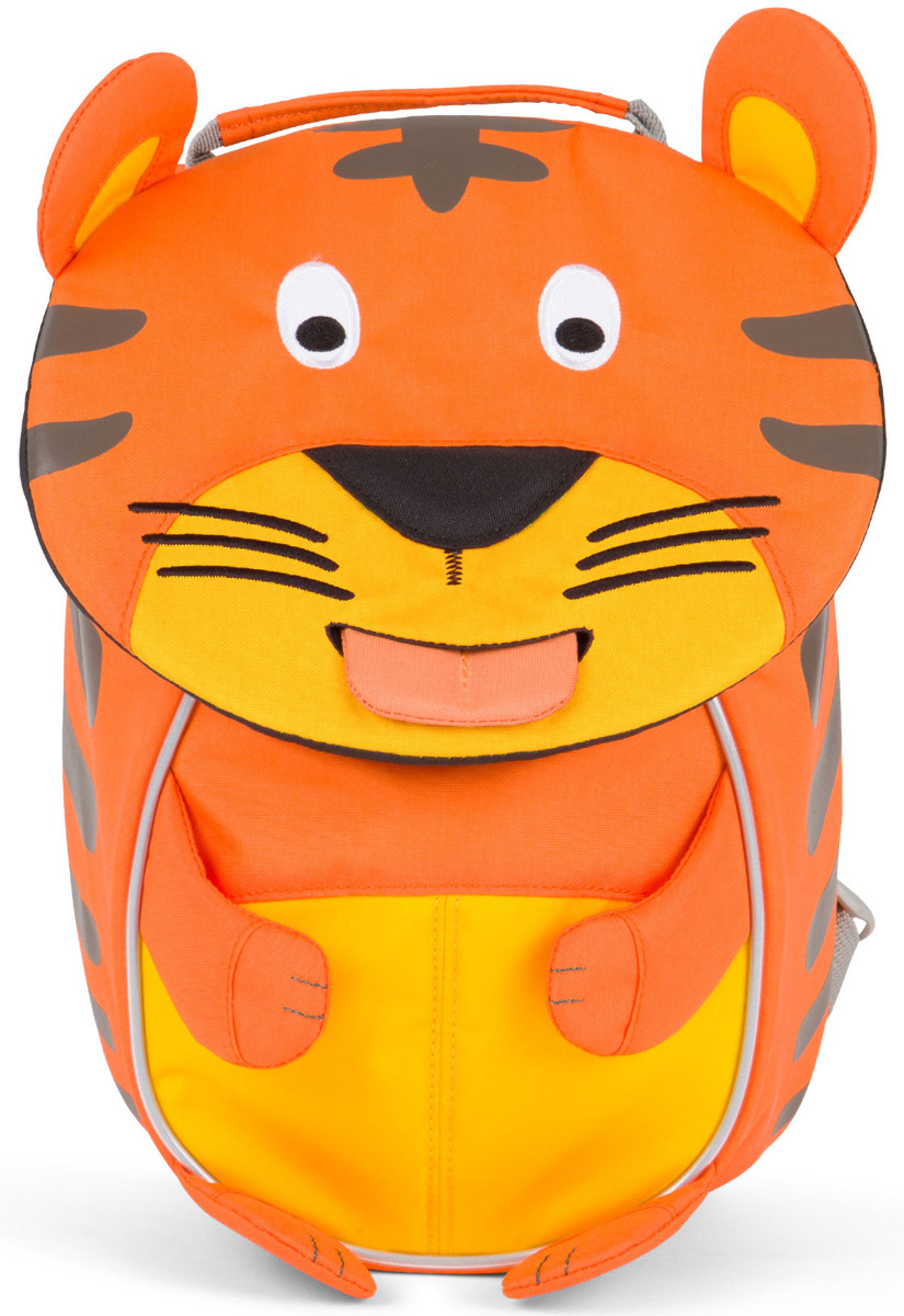 Affenzahn Рюкзак детский Timmy TigerAFZ-FAS-004-001Рюкзак, выполненный из прочного и дышащего (спинка) материала, предназначен для детей раннего возраста.Предусмотрена возможность регулировки лямочной системы, в частности, нагрудного ремня по высоте.Включает в себя вместительное внутреннее отделение с растягивающимся карманом.На ярлыке в виде высовывающегося языка можно написать имя ребёнка.Изделие оснащено ручкой для переноски.Светоотражающие элементы на внешней стороне рюкзака повышают безопасность на улице.