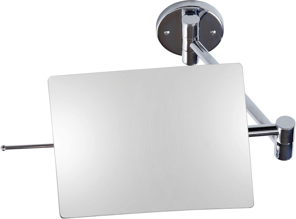 Зеркало косметическое Axentia, настенное, цвет: серебристый, 14 х 19 см126821Косметическое зеркало для ванны Axentia , изготовленное из хромированной стали и стекла, идеально подходит для нанесения макияжа и совершения различных косметических процедур. Изделие прямоугольной формы с подвижным двойным шарниром имеет жесткое крепление к стене. Зеркало оснащено специальной ручкой, при помощи которой изделие можно регулировать в любом положении, не оставляя отпечатки пальцев на поверхности. Зеркало фиксируется на стене с помощью шурупов, которые входят в комплект. Стильный дизайн зеркала делает его отличным подарком родным и близким, оно будет прекрасно смотреться в любом интерьере.Размер: 14 х 19 смДлина кронштейна: 38 см.