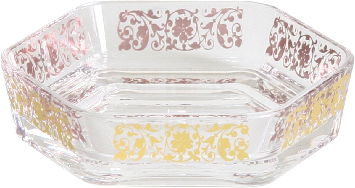 Мыльница Axentia Vanja, цвет: прозрачный, золотой, 12,5 х 12,5 х 3 см диспенсер для жидкого мыла axentia vanja 17 х 7 5 х 7 5 см