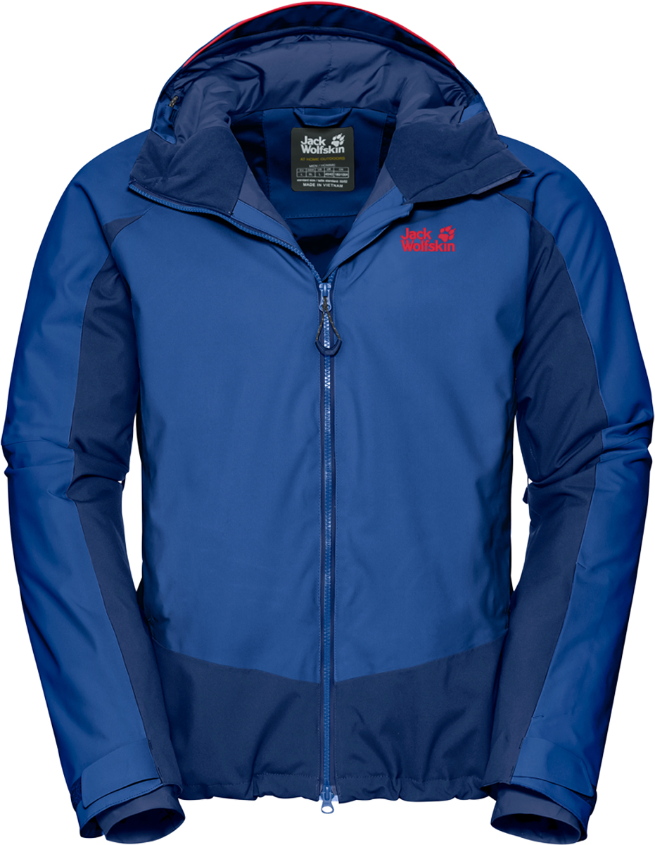 Куртка мужская Jack Wolfskin Exolight Base Jacket, цвет: синий. 1109751-1201. Размер L (48/50) платье jack wolfskin wahia dress цвет коралловый 1502892 2043 размер xl 50 52