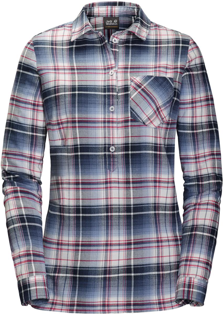 Рубашка женская Jack Wolfskin Grange Park Shirt, цвет: темно-синий. 1402451-7822. Размер S (44/46)1402451-7822Женская клетчатая рубашка от Jack Wolfskin «Grange Park Shirt» из органического хлопка с планкой для пуговиц на половину длины. Стиль вне времени и знаковые детали. Отличительные черты этой модели - планка для пуговиц на половину длины и слегка удлиненный покрой. Вам обеспечен комфорт на всю зиму - от первых снежинок до последнего утреннего заморозка.Полностью натуральная ткань невероятно комфортна при ношении и на ощупь. И не только зимой - вы сможете носить эту рубашку круглый год. Нагрудный карман предназначен для хранения важных мелочей.
