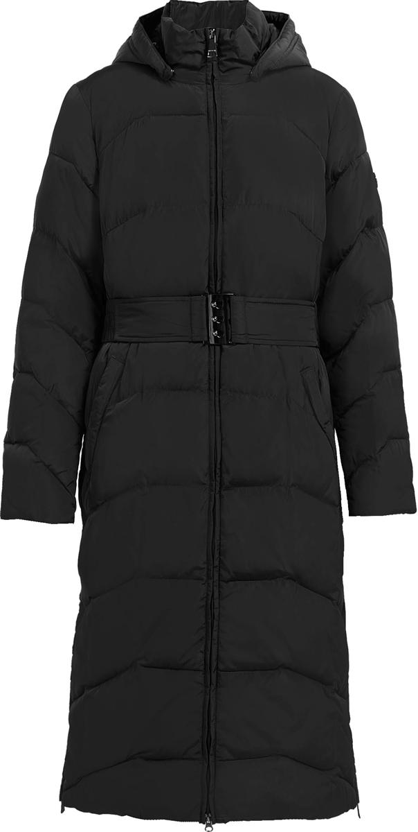 Пальто женское Finn Flare, цвет: черный. W17-11009_200. Размер 4XL (56)W17-11009_200Пальто Finn Flare изготовлено из качественного полиэстера. Модель с отстегивающимся капюшоном и длинными рукавами застегивается на молнию. Пальто дополнено прорезными карманами и поясом.