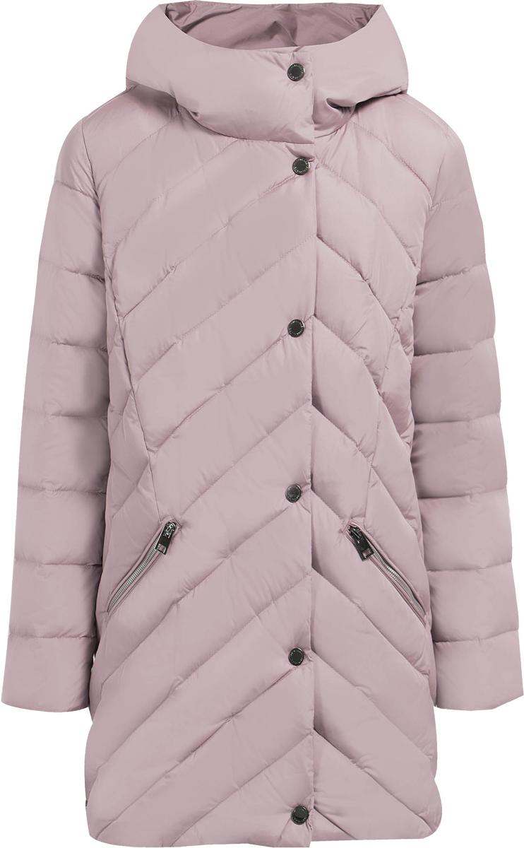 Куртка женская Finn Flare, цвет: серый. W17-11014_824. Размер XXL (52)W17-11014_824Теплая женская куртка изготовлена из качественного полиэстера. Модель с длинными рукавами и капюшоном застегивается на молнию и кнопки. По бокам расположены врезные карманы на застежках-молниях.