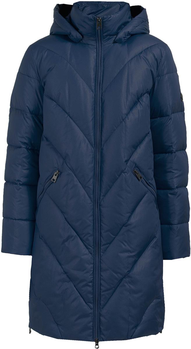 Пальто женское Finn Flare, цвет: темно-синий. W17-11023_101. Размер M (46)W17-11023_101Пальто Finn Flare изготовлено из качественного полиэстера. Модель с длинными рукавами и съемным капюшоном застегивается на молнию. Пальто дополнено спереди прорезными карманами на молниях. По бокам расположены металлические молнии.