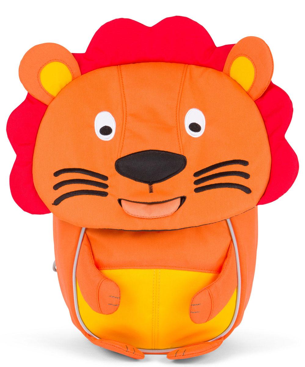 Affenzahn Рюкзак дошкольный Lena LionAFZ-FAS-001-002Рюкзак Affenzahn, выполненный из прочного материала, предназначен для детей раннего возраста.У изделия предусмотрена возможность регулировки лямочной системы, в частности, нагрудного ремня по высоте. Рюкзак включает в себя вместительное внутреннее отделение на застежке-молнии с растягивающимся карманом. На ярлыке в виде высовывающегося языка можно написать имя ребенка. Изделие оснащено ручкой для переноски в руках. Светоотражающие элементы на внешней стороне рюкзака повышают безопасность ребенка на дороге в темное время суток.