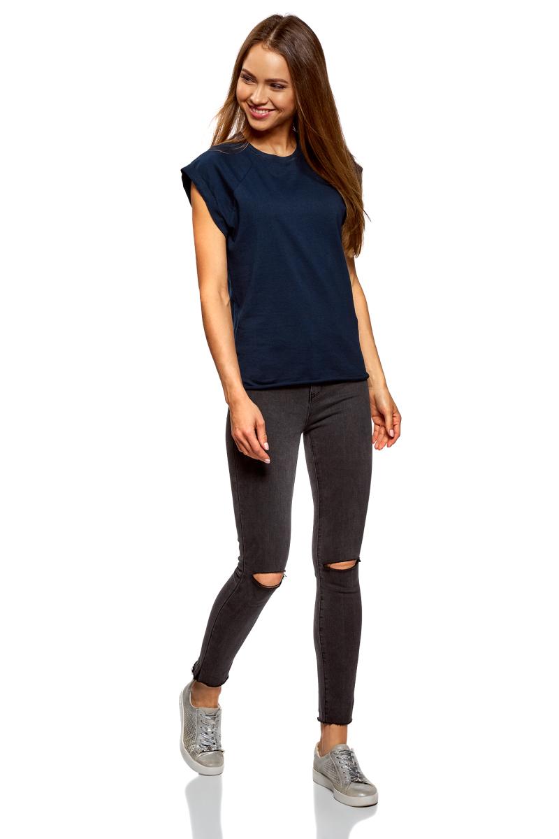Футболка женская oodji Ultra, цвет: темно-синий, 3 шт. 14707001T3/46154/7900N. Размер M (46)14707001T3/46154/7900NБазовая футболка с короткими рукавами и круглым вырезом горловины выполнена из натурального хлопка. Низ футболки не обработан. В комплекте 3 футболки.