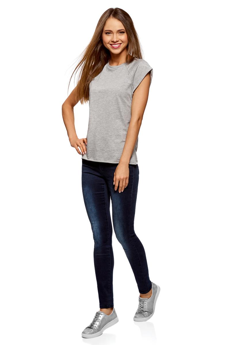 Футболка женская oodji Ultra, цвет: светло-серый меланж, 3 шт. 14707001T3/46154/2000M. Размер M (46)14707001T3/46154/2000MБазовая футболка с короткими рукавами и круглым вырезом горловины выполнена из натурального хлопка. Низ футболки не обработан. В комплекте 3 футболки.