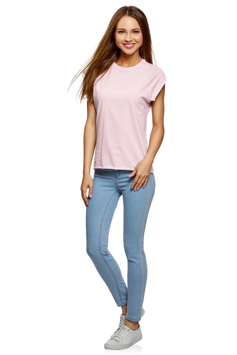 Футболка женская oodji Ultra, цвет: розовый, серый, зеленый, 3 шт. 14707001T3/46154/19FRN. Размер M (46)14707001T3/46154/19FRNБазовая футболка с короткими рукавами и круглым вырезом горловины выполнена из натурального хлопка. Низ футболки не обработан. В комплекте 3 футболки.