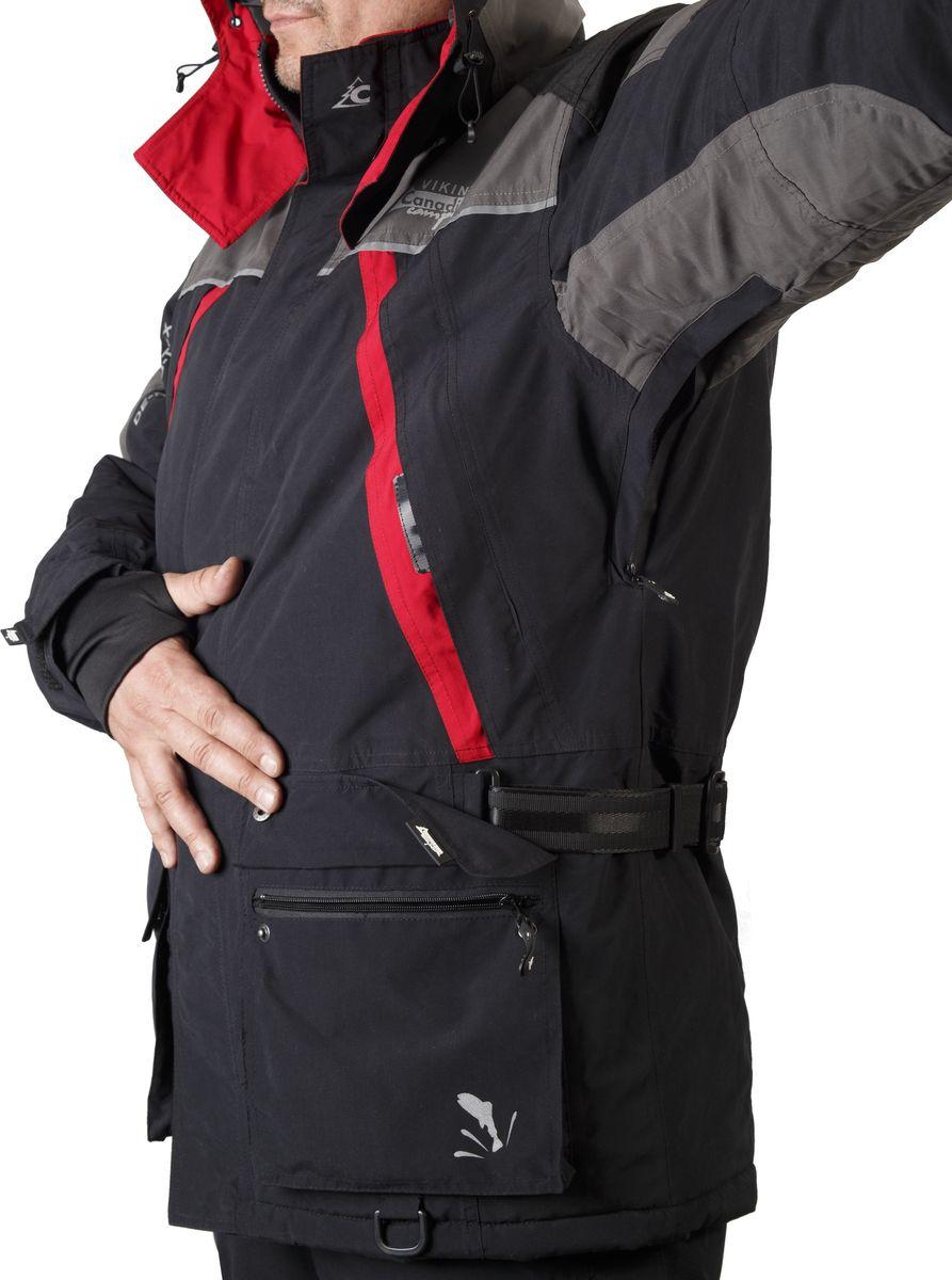 Костюм универсальный мужской Canadian Camper Viking:  куртка, брюки, цвет:  черный, серый.  Viking_Black/Grey.  Размер L (48/50)
