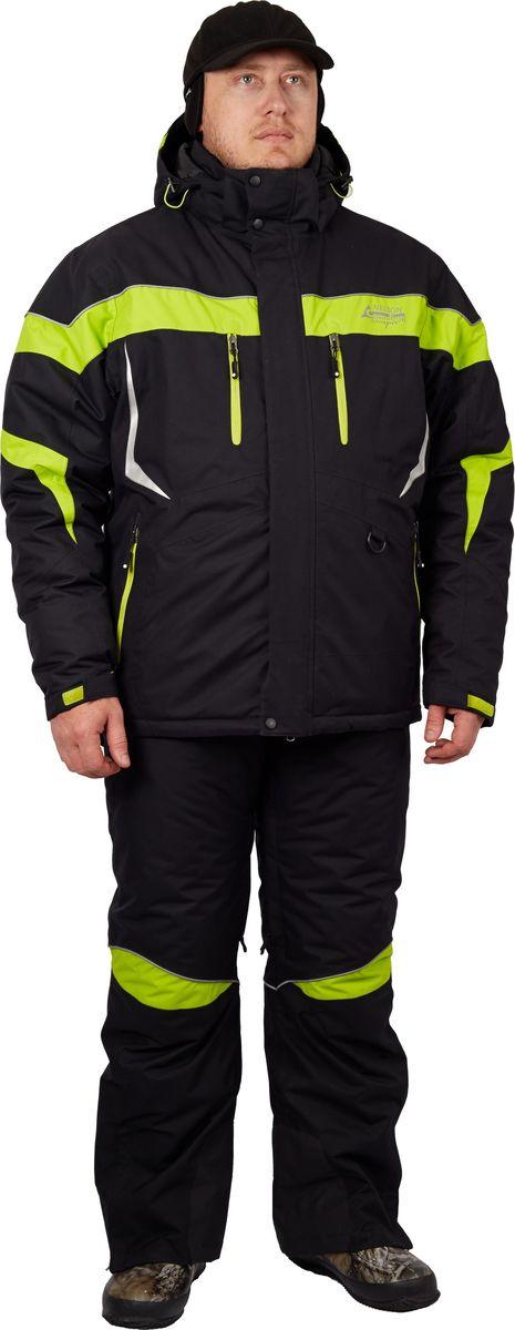 Костюм рыболовный мужской Canadian Camper Nelson: куртка, полукомбинезон, цвет: черный, зеленый. Nelson_Black. Размер XL (52/54)Nelson_BlackКостюм специально разработан для эксплуатации в межсезонье – для весны и осени. Спортивный стильный дизайн костюма отлично подойдет не только рыболовам-спиннингистам, но и всем любителям активного отдыха. Костюм рассчитан на температуру от 0 до -20°C. Костюм демисезонный универсальный:Куртка и полукомбинезон Основная ткань: 100% нейлон Подкладка: 100% полиэстер Утеплитель: 100% полиэстер NORONПоказатели мембраны DE-РRO-TEXВодонепроницаемость: 8000 мм в.с. Паропроницаемость: 5000 г/м2/24ч.Проклеенные швыВентиляционная система на куртке и комбинезоне отверстия на молнии защищенные сеткойТеплая трикотажная подкладкаВнутренний теплый карман под планкойЭргономичный крой Капюшон, регулируемый по двум уровнямБольшие утепленные карманы на куртке и комбинезонеВнутренние эластичные манжеты на рукавахУтепленный капюшон Высокий теплый воротникФиксатор, стягивающий низ курткиСветоотражающие нашивки и канты безопасности.