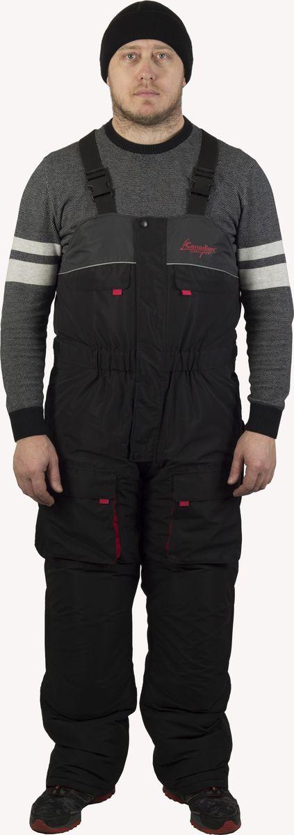 Костюм рыболовный мужской Canadian Camper Siberia:  куртка, комбинезон, цвет:  черный, красный.  Siberia_Black.  Размер XXL (54/56)