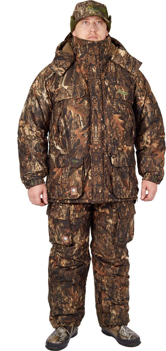 Костюм охотничий мужской Canadian Camper Hunter: куртка, полукомбинезон, цвет: коричневый. Hunter_Цифра. Размер M (46/48), рост 170-178Hunter_ЦифраHunter – охотничья модель, разработанная на основе хорошо зарекомендовавшего себя рыболовного костюма Snow Lake. Усиленная мембрана DE-PRO-TEX 10000/10000 помимо отличных паропроницаемых свойств, увеличит способность костюма противостоять неблагоприятным погодным условиям. Костюм имеет все особенности, присущие современной охотничьей одежде - не шуршащая ткань, эргономичный крой, вентиляционные карманы в области подмышек, артикулированные рукава и колени, клапаны на карманах, которые можно закрепить в поднятом состоянии, ветрозащитная юбка и т.д.Водонепроницаемость: 10000 мм в.с. - Паропроницаемость: 10000 г/м2/24 ч.