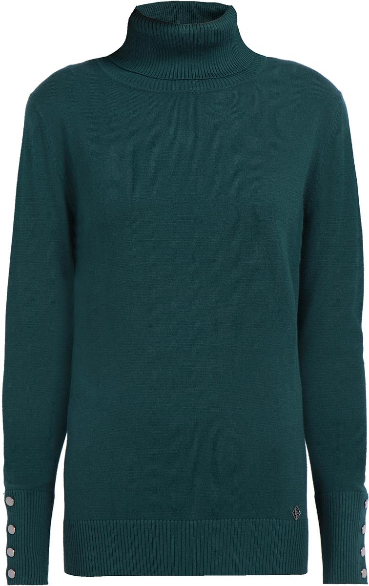 Джемпер женский Finn Flare, цвет: темно-зеленый. W17-11114_511. Размер M (46)W17-11114_511