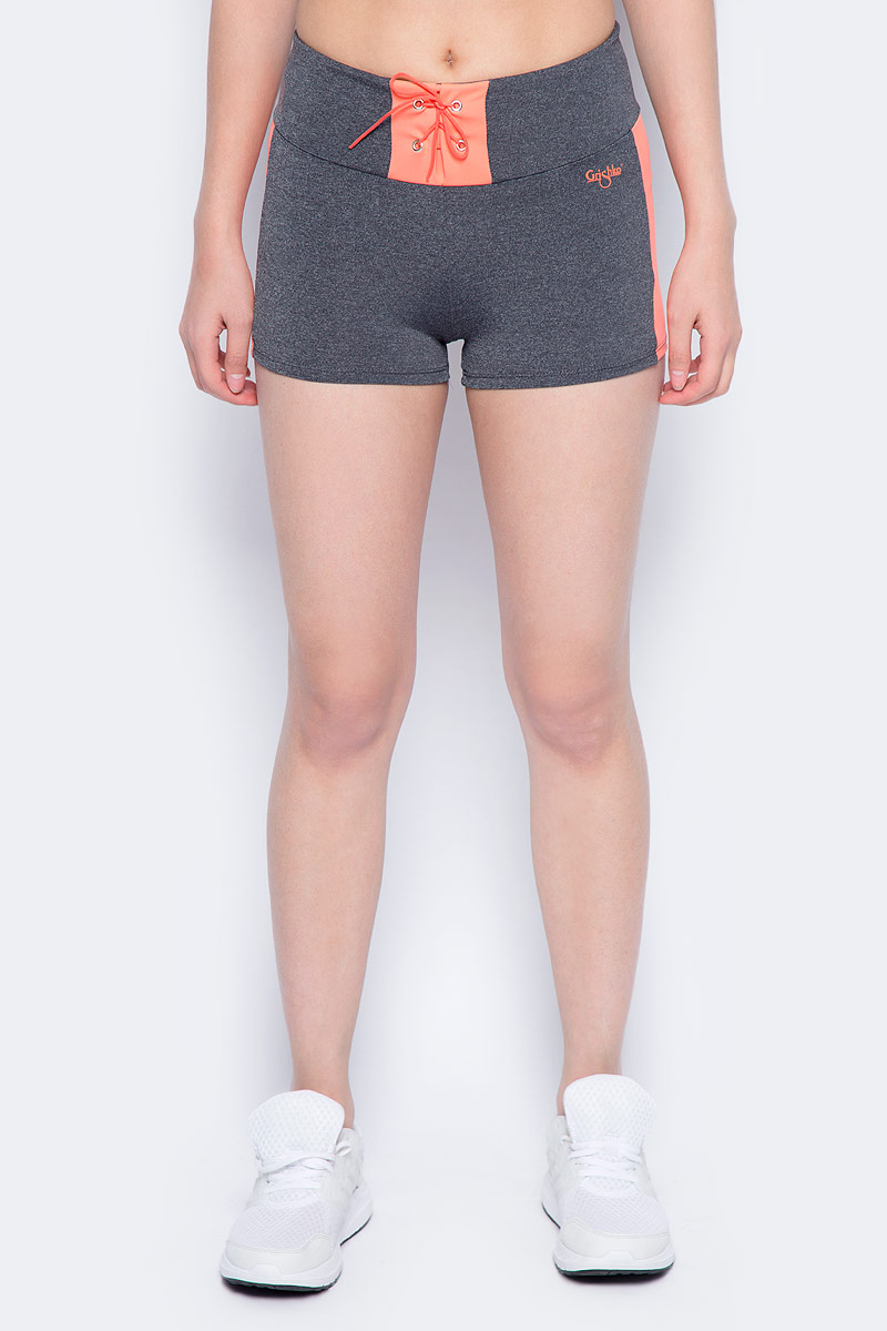 Шорты для фитнеса женские Grishko, цвет: темно-серый. AL- 3201. Размер 44AL- 3201Спортивные короткие шорты выполнены с контрастными кантами. Широкий плотный пояс украшен контрастной вставкой с актуальной в этом сезоне шнуровкой. Модель выполнена из шелковистого, приятного на ощупь полиамида с эластаном в оптимальном для спортивных нагрузок сочетании. Шорты не сковывают движений и подчеркивают спортивное телосложение за счет визуально корректирующих фигуру линий. Материал отлично пропускает воздух, впитывает влагу и сохраняет форму.