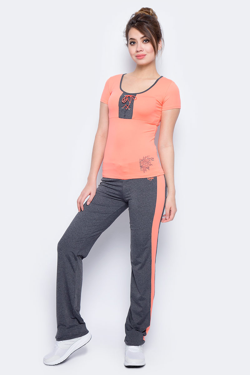 Брюки спортивные женские Grishko, цвет: оранжевый. AL- 3205. Размер 42AL- 3205Спортивные прямые брюки Grishko с контрастными кантами и широким плотным поясом, украшенным контрастной вставкой со шнуровкой. Модель выполнена из шелковистого, приятного на ощупь полиамида с лайкрой в оптимальном для спортивных нагрузок сочетании. Брюки не сковывают движений и подчеркивают спортивное телосложение за счет визуально корректирующих фигуру линий. Материал отлично пропускает воздух, впитывает влагу и сохраняет форму.Линия эргономичной одежды создана для всех видов активных физических нагрузок и выполнена в ультрамодных цветовых сочетаниях.