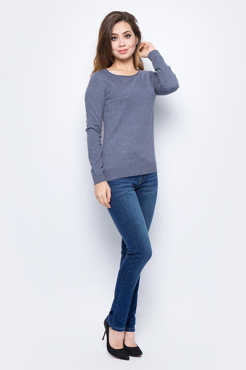 Джемпер женский Sela, цвет: темно-серый меланж. JR-114/1220-7442. Размер M (46)JR-114/1220-7442Модный женский джемпер Sela, изготовленный из высококачественного материала, мягкий и приятный на ощупь, не сковывает движений и обеспечивает наибольший комфорт. Модель с круглым вырезом горловины и длинными рукавами великолепно подойдет для создания современного образа в стиле Casual. Этот джемпер послужит отличным дополнением к вашему гардеробу.
