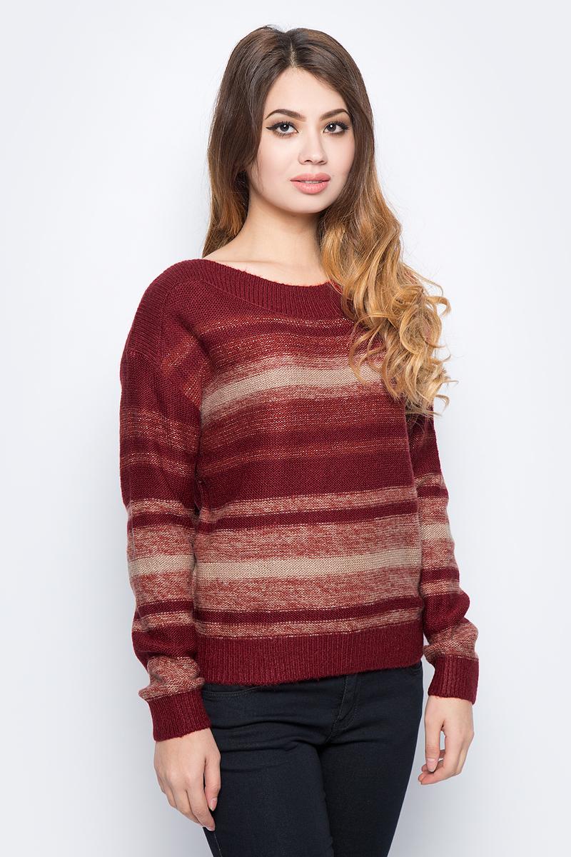 Джемпер женский Sela, цвет: коричнево-бордовый. JR-114/2075-7432. Размер XS (42)