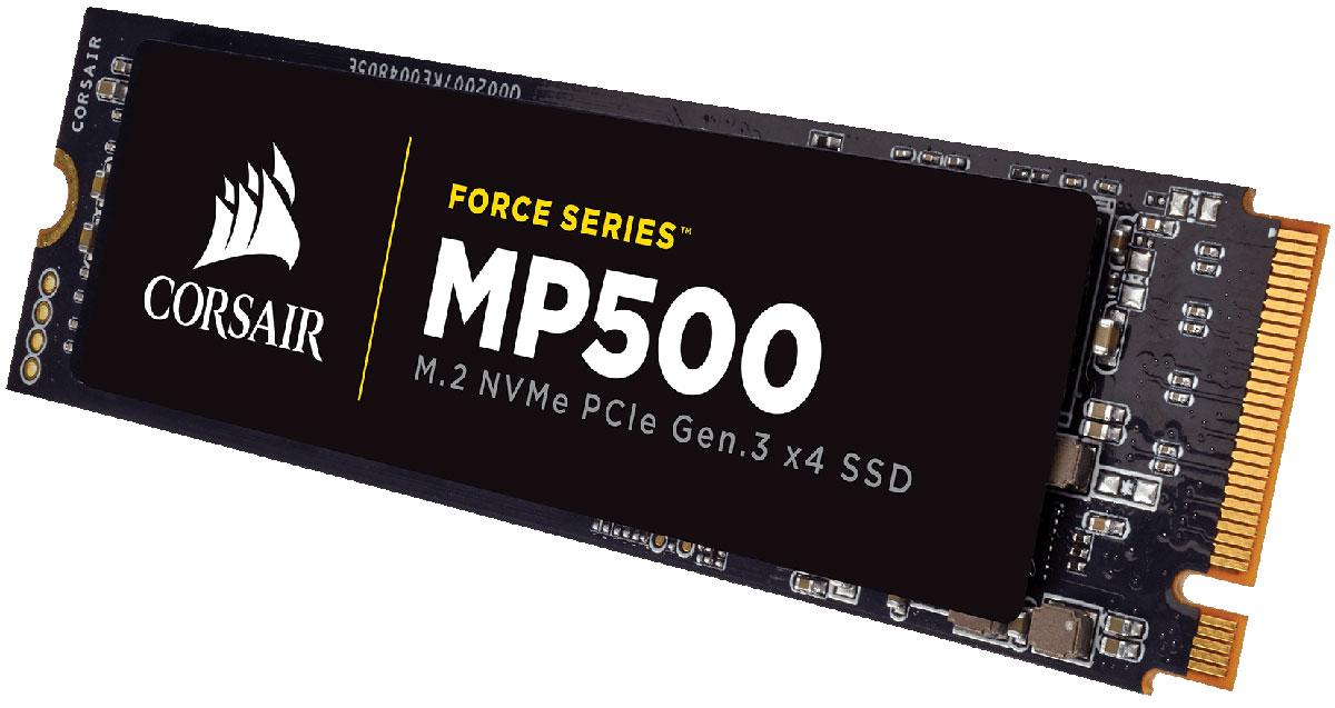 Corsair Force Series MP500 120GB SSD-накопитель (CSSD-F120GBMP500)427072Твердотельные накопители Corsair Force MP500 Series M.2 обеспечивают высокую производительность, быструю загрузку системы, сверхвысокую скорость передачи и высочайшую надежность в компактном форм-факторе.Интерфейс NVMe PCIe обеспечивает более высокую пропускную способность, позволяя получать доступ к данным, загружать файлы и запускать игры в четыре раза быстрее, чем при интерфейсе SATA 3.0.Благодаря позолоченным пальцевым контактам толщиной 30 мкм улучшается контакт с материнской платой и обеспечивается вибростойкость, благодаря чему повышается надежность при интенсивных нагрузках.Программа Corsair SSD ToolboxПозволяет контролировать атрибуты S.M.A.R.T и состояние работоспособности твердотельного накопителя, обеспечивая поддержку для повышения резервной области, надежной очистки, клонирования диска, обновления микропрограммы и многое другое.Дополнительная защита для повышения надежности и продления срока службы привода. Поддержка для увеличения резервной области твердотельного накопителя, надежной очистки, клонирования диска, обновления микропрограммы и многое другое.Дополнительные методы исправления битов контроля четности и более высокая надежность хранения данных наряду с поддержкой NAND последнего поколения.
