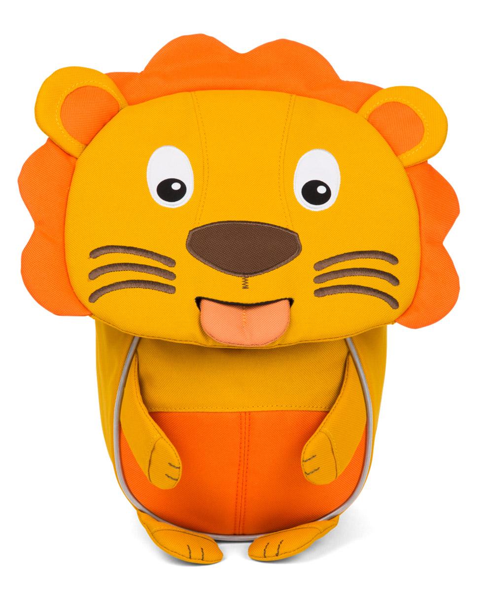 Affenzahn Рюкзак дошкольный Lena LionAFZ-FAS-002-002Рюкзак дошкольный Affenzahn Lena Lion, выполненный из прочного материала с дышащей спинкой, предназначен для детей раннего возраста.Предусмотрена возможность регулировки лямочной системы, в частности, нагрудного ремня по высоте. Рюкзак включает в себя вместительное внутреннее отделение с карманом на резинке, которое закрывается на застежку-молнию с двумя бегунками. На ярлыке в виде высовывающегося языка можно написать имя ребенка.Рюкзак оснащен ручкой для переноски и светоотражающими элементами на внешней стороне, повышающими безопасность на улице.