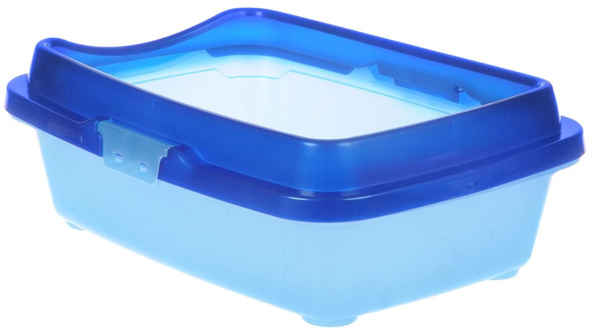 Туалет для кошек DD Style Догуш, с бортом, цвет: синий, голубой, 32,5 х 43 х 15,5 смПг-08000_оранжевыйТуалет для кошек DD Style Догуш изготовлен из качественного прочного пластика. Высокийборт, прикрепленный по периметру лотка, удобно защелкивается и предотвращаетразбрасывание наполнителя. Это самый простой в употреблении предмет обихода для кошеки котов.Туалет легко моется водой.