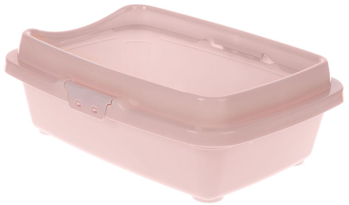 Туалет для кошек DD Style Догуш, с бортом, цвет: пепельно-розовый, 32,5 х 43 х 15,5 смТуалет Догуш для кошек с бортом сине-гол.(уп.25) арт.234Туалет для кошек DD Style Догуш изготовлен из качественного прочного пластика. Высокий борт, прикрепленный по периметру лотка, удобно защелкивается и предотвращает разбрасывание наполнителя. Это самый простой в употреблении предмет обихода для кошек и котов.Туалет легко моется водой.