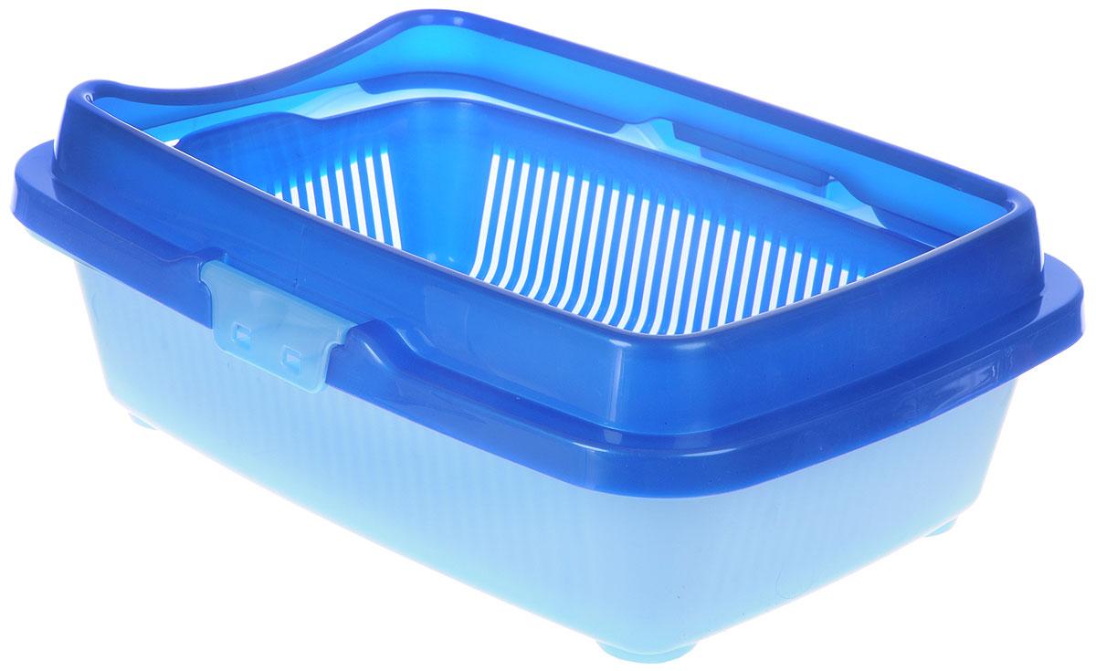 Туалет для котят DD Style Догуш, с бортом и сеткой, цвет: синий, голубой, 26,5 х 36,5 х 12,5 смТуалет Догуш для котят полн.комплектация сине-гол.(уп.20) арт.232Туалет для котят DD Style Догуш изготовлен из качественного прочного пластика. Высокий борт, прикрепленный по периметру лотка, удобно защелкивается и предотвращает разбрасывание наполнителя. Благодаря внутренней сетке, туалет можно использовать как с наполнителем, так и без него. Это самый простой в употреблении предмет обихода для котят.Туалет легко моется водой.