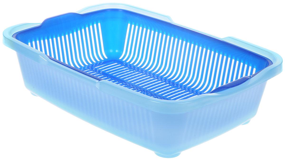Туалет для котят DD Style Догуш, с сеткой, цвет: синий, голубой, 25,5 х 36,5 х 9,5 смТуалет Догуш для котят с сеткой сине-гол.(уп.30) арт.230Туалет для котят DD Style Догуш изготовлен из качественного прочного пластика. Благодаря внутренней сетке, туалет можно использовать как с наполнителем, так и без него. Это самый простой в употреблении предмет обихода для котят.Туалет легко моется водой.