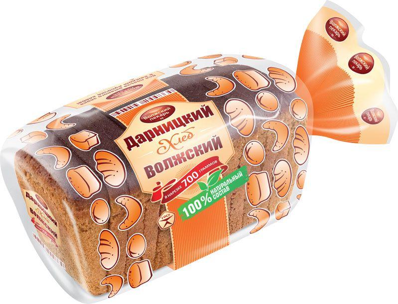 Волжский Пекарь Хлеб Дарницкий Волжский, в нарезке, 700 г