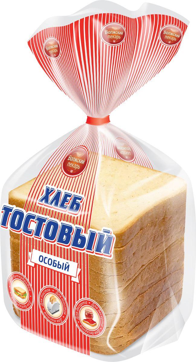 Волжский Пекарь Хлеб Тостовый особый, в нарезке, 400 г хлебная смесь чесночный хлеб