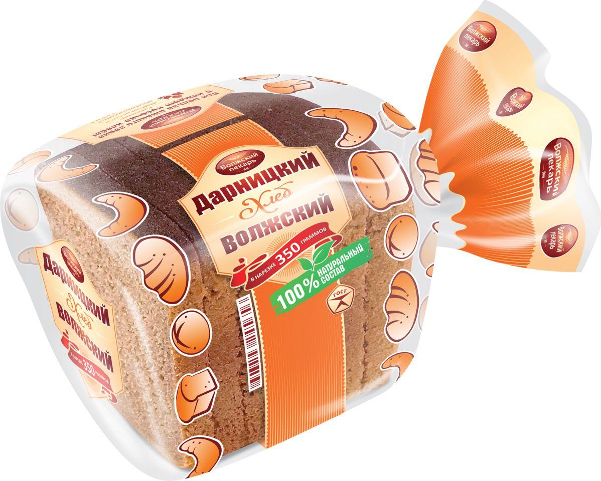 Волжский Пекарь Хлеб Дарницкий Волжский, в нарезке, 350 г рязанские просторы клетчатка топинамбура 200 г
