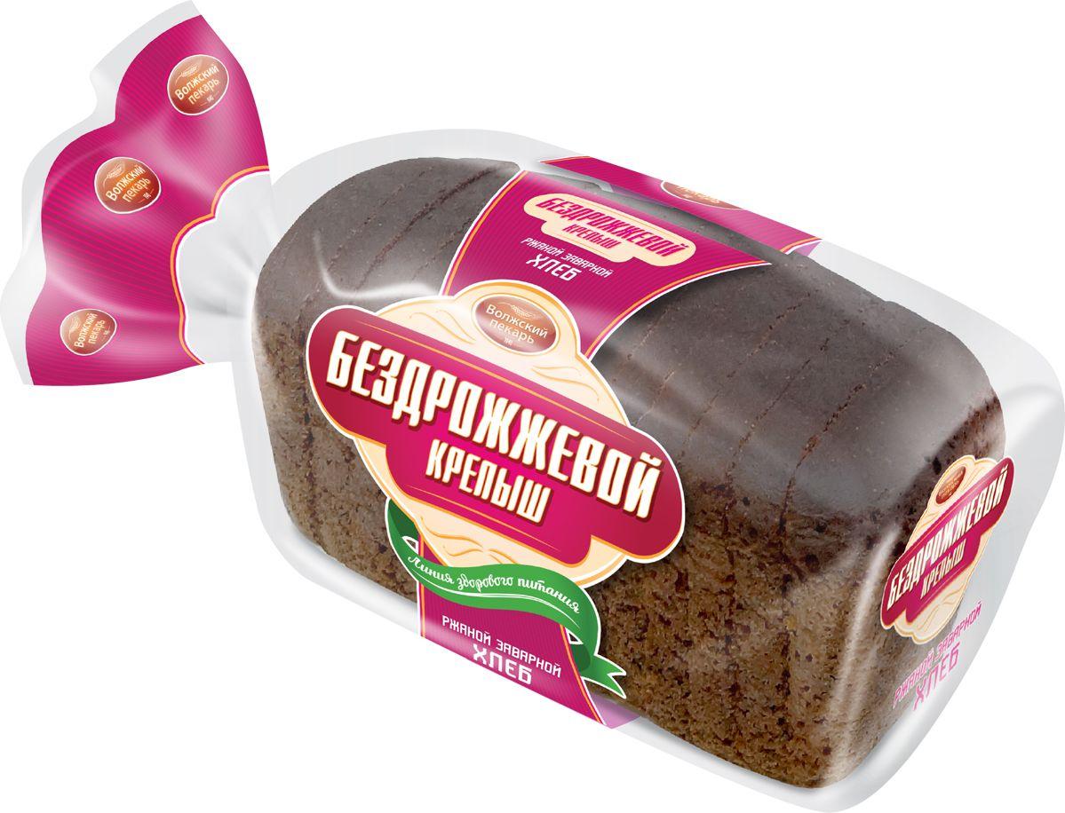 Волжский Пекарь Хлеб Крепыш, бездрожевой, заварной, в нарезке, 350 г соки и напитки semper сок груша с 4 мес 200 мл