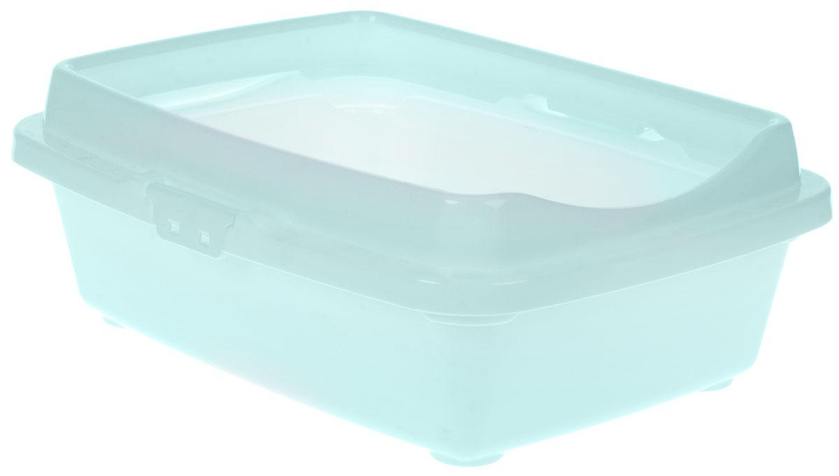 Туалет для кошек DD Style Догуш, с бортом, цвет: ментоловый, 32,5 х 43 х 15,5 смТуалет Догуш для кошек с бортом светло-серый(уп.25) арт.234Туалет для кошек DD Style Догуш изготовлен из качественного прочного пластика. Высокий борт, прикрепленный по периметру лотка, удобно защелкивается и предотвращает разбрасывание наполнителя. Это самый простой в употреблении предмет обихода для кошек и котов.Туалет легко моется водой.