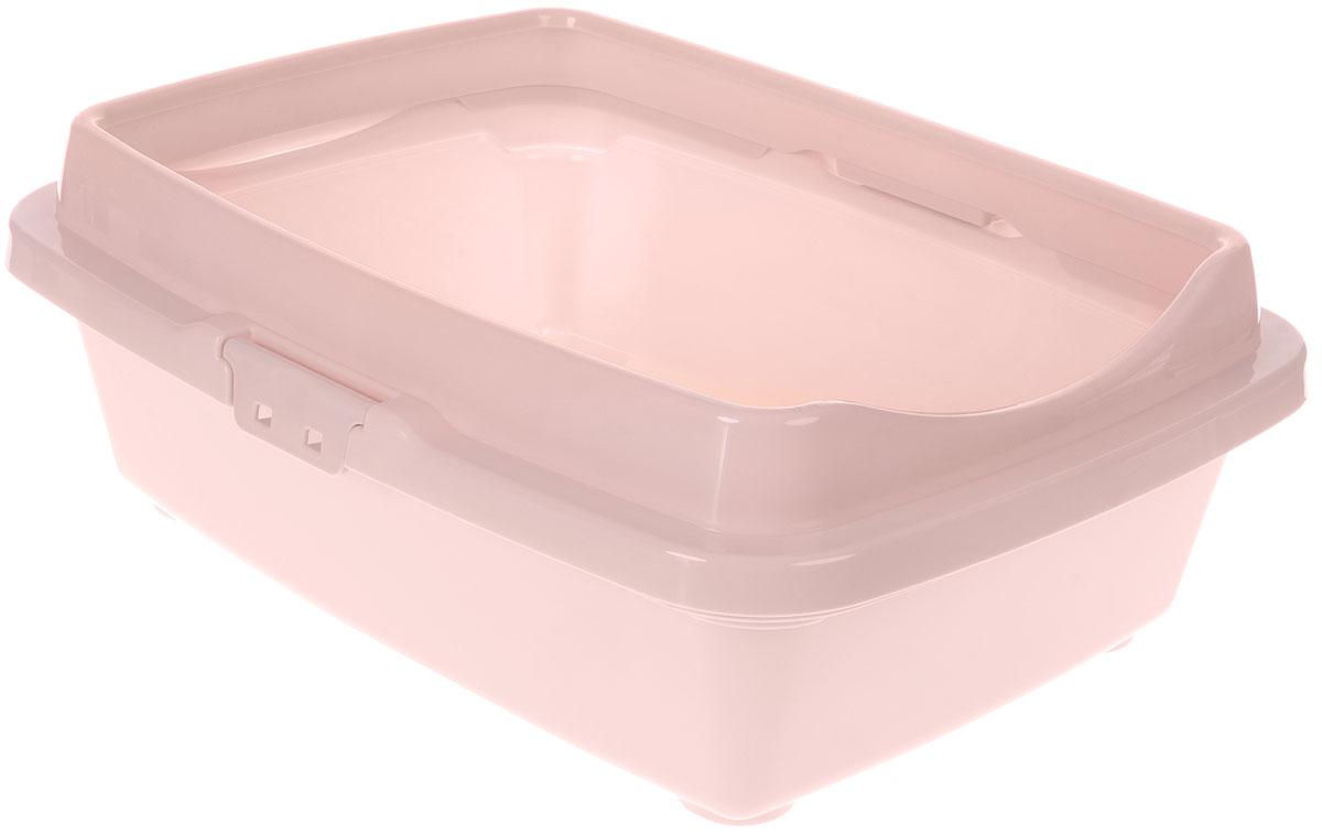 Туалет для кошек DD Style Догуш, с бортом, цвет: пепельно-розовый, 36 х 49,5 х 16,7 смТуалет для кошек бол. с бортом пепл.-роз.(уп.20) арт.237Туалет для кошек DD Style Догуш изготовлен из качественного прочного пластика. Высокий борт, прикрепленный по периметру лотка, удобно защелкивается и предотвращает разбрасывание наполнителя. Это самый простой в употреблении предмет обихода для кошек и котов.Туалет легко моется водой.