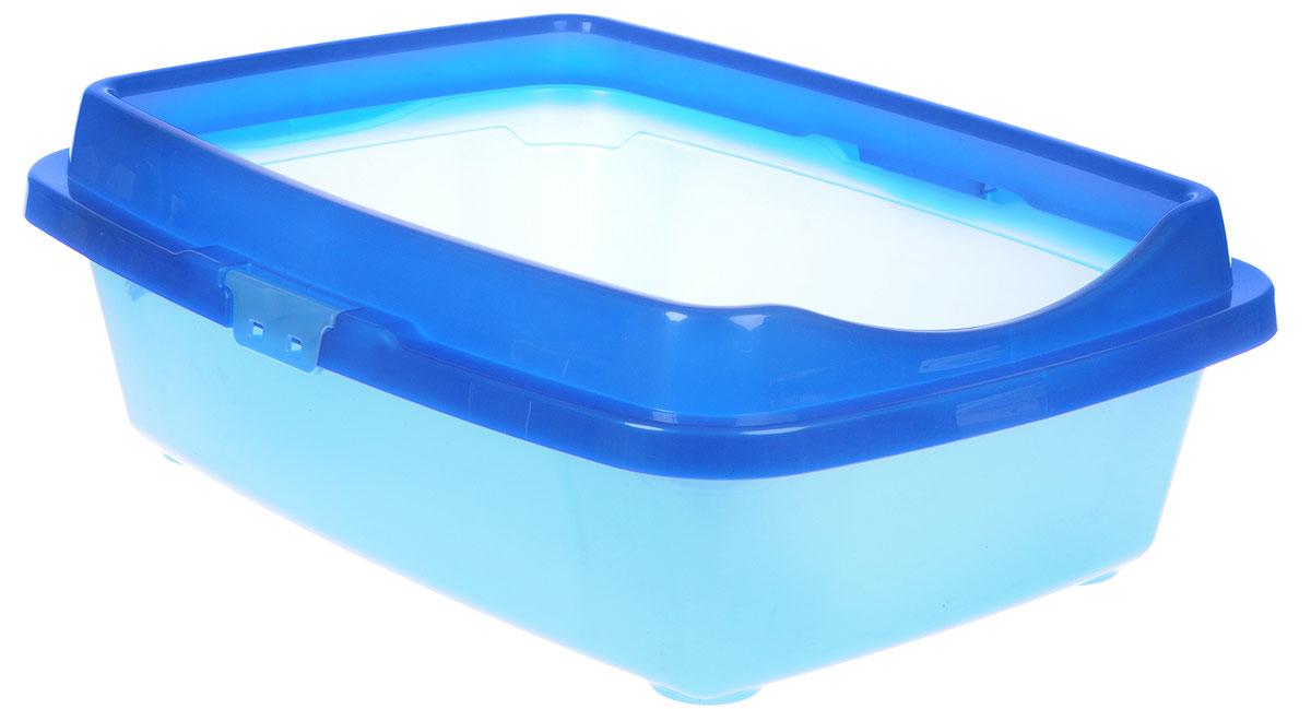 Туалет для кошек DD Style Догуш, с бортом, цвет: синий, голубой, 36 х 49,5 х 16,7 смТуалет для кошек бол. с бортом сине-гол.(уп.20) арт.237Туалет для кошек DD Style Догуш изготовлен из качественного прочного пластика. Высокий борт, прикрепленный по периметру лотка, удобно защелкивается и предотвращает разбрасывание наполнителя. Это самый простой в употреблении предмет обихода для кошек и котов.Туалет легко моется водой.