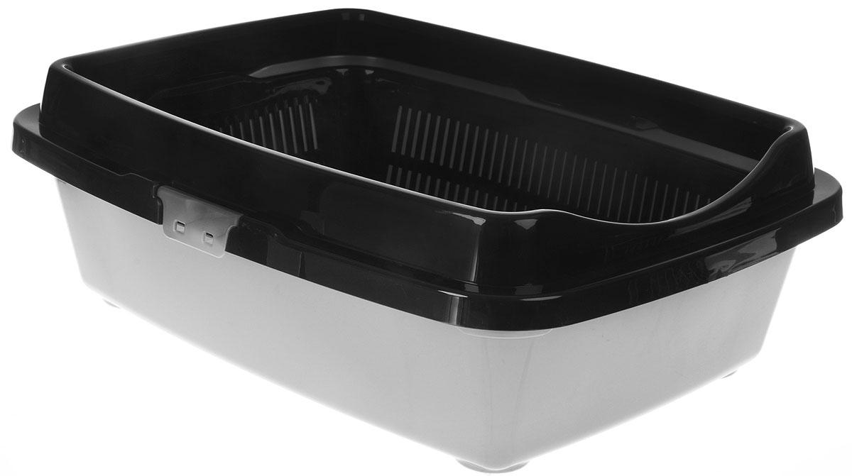 Туалет для кошек DD Style Догуш, с бортом и сеткой, цвет: светло-серый, 32,5 х 43 х 15,5 смТуалет Догуш для кошек полн.комплектация светло-серый(уп.18) арт.235Туалет для кошек DD Style Догуш изготовлен из качественного прочного пластика. Высокий борт, прикрепленный по периметру лотка, удобно защелкивается и предотвращает разбрасывание наполнителя. Благодаря внутренней сетке, туалет можно использовать как с наполнителем, так и без него. Это самый простой в употреблении предмет обихода для кошек и котов.Туалет легко моется водой.
