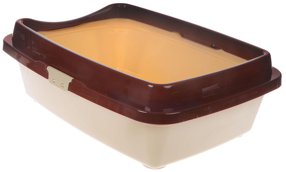 Туалет для кошек DD Style Догуш, с бортом, цвет: коричневый, бежевый, 36 х 49,5 х 16,7 смТуалет для кошек бол. с бортом кор.-беж.(уп.20) арт.237Туалет для кошек DD Style Догуш изготовлен из качественного прочного пластика. Высокий борт, прикрепленный по периметру лотка, удобно защелкивается и предотвращает разбрасывание наполнителя. Это самый простой в употреблении предмет обихода для кошек и котов.Туалет легко моется водой.