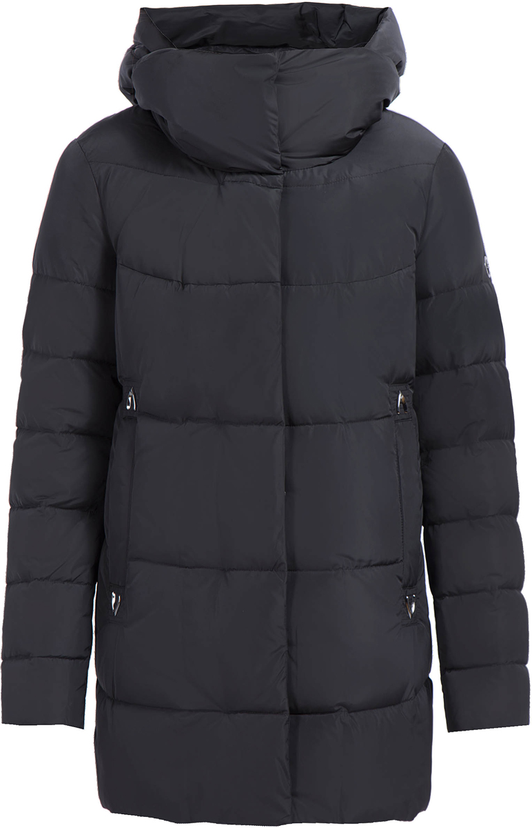 Куртка женская Finn Flare, цвет: черный. W17-32017_200. Размер L (48)W17-32017_200Теплая женская куртка изготовлена из качественного полиэстера. Модель с длинными рукавами и капюшоном застегивается на молнию и кнопки. По бокам расположены врезные карманы.