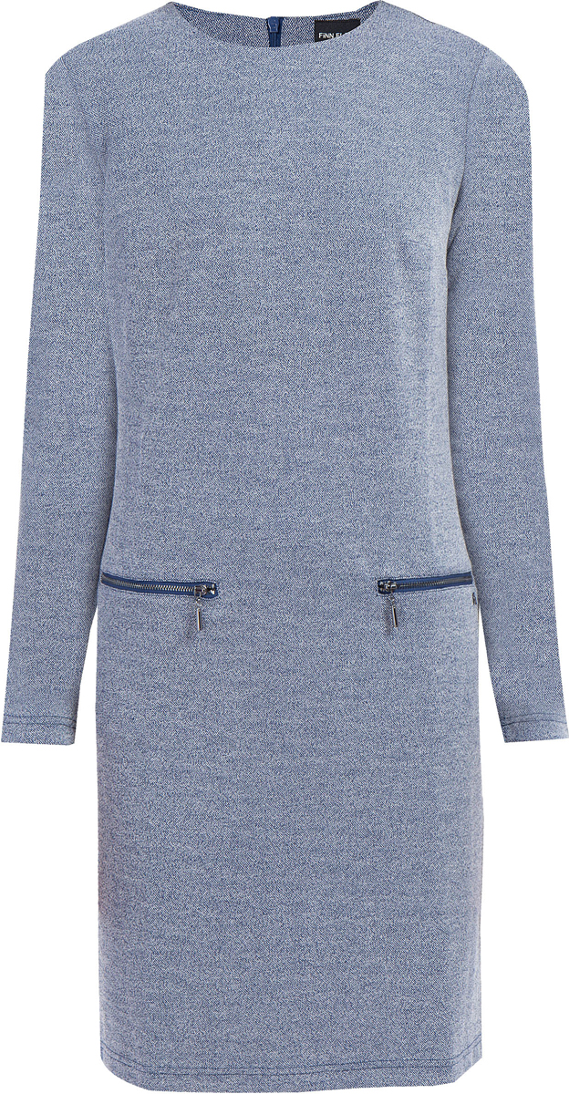 Платье Finn Flare, цвет: темно-синий. W17-32026_101. Размер S (44) платье patrizia pepe 8a0347 a1qza c604
