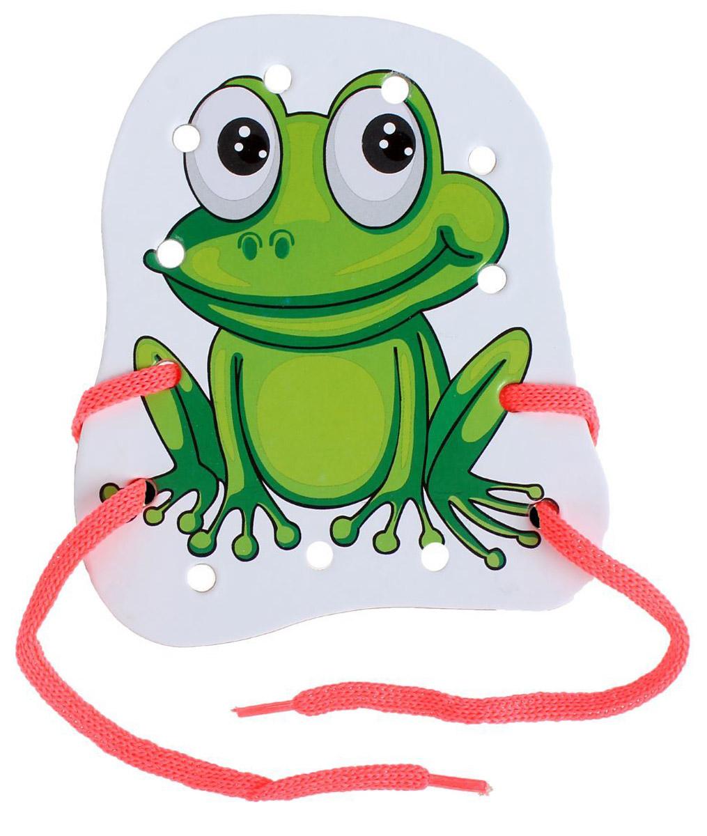 Ракета Шнуровка-раскраска Лягушка