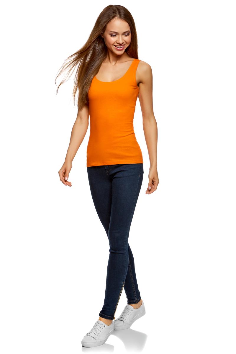 Майка женская oodji Ultra, цвет: оранжевый, 2 шт. 14315002T2/46154/5500N. Размер XS (42)14315002T2/46154/5500NКомплект oodji Ultra состоит из двух маек, выполненных из натурального хлопка. Модели на лямках средней ширины с круглым вырезом горловины подойдут для прогулок и дружеских встреч и будут отлично сочетаться с джинсами и брюками, а также гармонично смотреться с юбками. Воротник и проймы изделий дополнены мягкой эластичной бейкой. Мягкая ткань приятна на ощупь и комфортна в носке.