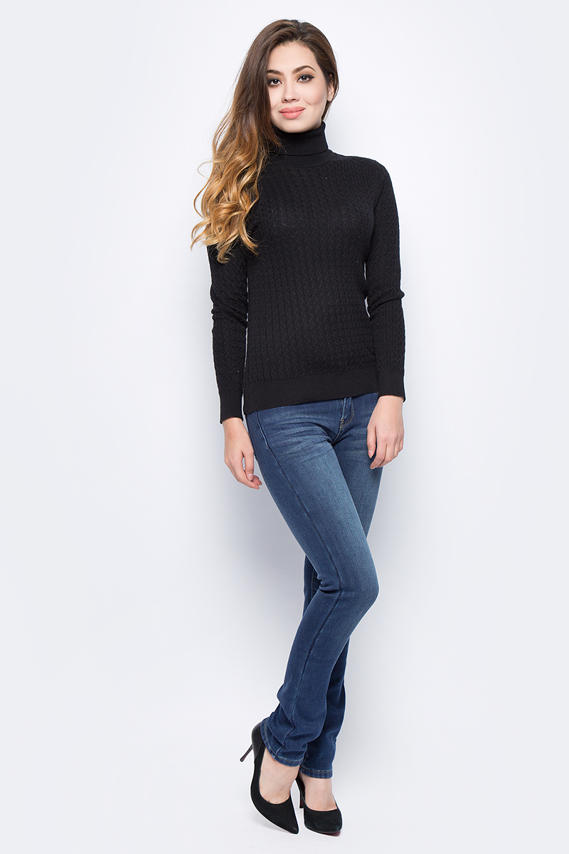 Джинсы женские Sela, цвет: темно-синий джинс. PJ-135/038-7361. Размер 27-32 (42/44-32) джинсы женские oodji ultra цвет темно синий джинс 12104043 6b 46260 7900w размер 27 32 44 32