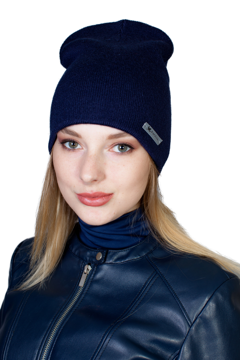Шапка женская Paccia, цвет: синий. NR-21701-5. Размер 55/58 шапки mialt шапка
