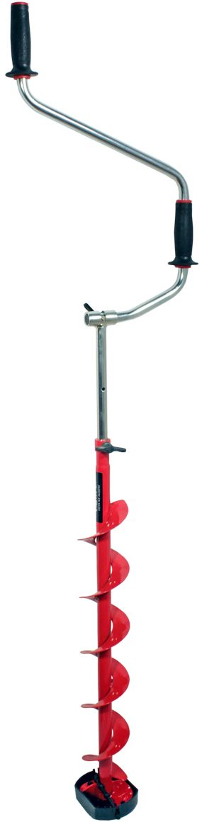 Ледобур Vista, сферические ножи, правое вращение, RH-4110 110 мм479291.Двуручный. Вращение правое (по часовой стрелке)2. Ручки – морозоустойчивый, рифленый пластик.3. Современная конструкция замка. 4. Выдвижная штанга-удлинитель. 5. Шнек (модель RHXL с удлиненным шнеком), витки шнека без сварки.6. Режущая головка ледобура имеет ребро жесткости.7. Ножи – сферические.8. Упаковка – индивидуальная картонная коробка.9.Диаметр сверления 110 мм10. Вес 3,3 кг.