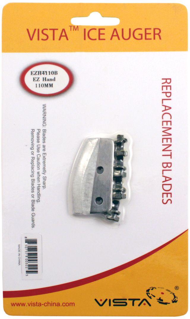 Ножи для ледобура Vista, EZH 110 мм47994Комплект прямых ножей (2 ножа, 4 винта) для ледобура VISTA EZH диаметром 110 мм. Упаковка - блистер.