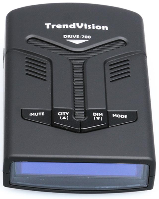 TrendVision Drive-700 радар-детекторd700Радар-детектор TrendVision Drive-700 предназначен для заблаговременного предупреждения о полицейских комплексах измерения скорости и видеофиксации как на трассе, так и в городских условиях.Устройство оснащено встроенным GPS приемником, ярким графическим OLED дисплеем, мощным динамиком. С легкостью крепится к лобовому стеклу с помощью крепления на присосках и не мешает обзору при управлении автомобилем.TrendVision Drive 700 спроектирован чтобы оставаться незаметным в автомобиле и не портить дизайн любого авто. Детектор не только безупречно выполнит функцию детектирования, но и дополнит интерьер вашего авто.TrendVision Drive 700 обладает высокую чувствительность, непревзойдённую помехозащищённость среди устройств подобного класса. Несколько уровней чувствительности радар-детектора выбираются как вручную, так и в автоматическом режиме.В радар-детектор встроен GPS-приёмник. TrendVision Drive 700, один из самых удобных не навязчивых и комфортных детекторов по предупреждению о стационарных камерах и радарах из базы данных GPS. База данных обновляется с периодичностью раз в неделю.Дисплей обладает превосходной чёткостью и яркостью. Он не бликует на солнце, что очень важно при поездках в солнечную погоду.Все иконки на дисплее выполнены в едином стиле и являются очень информативными.TrendVision Drive 700 имеет функцию звукового оповещения. Эта функция полезна тем, что во время управления автомобилем вам нет необходимости всё время смотреть на дисплей. Во время изменения настроек радар детектор будет оповещать голосовыми подсказками.