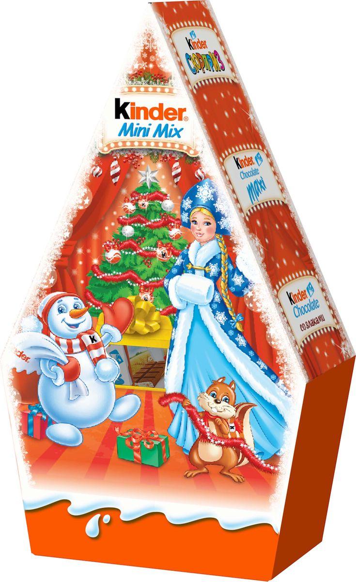 Kinder Mini Mix подарочный набор, 106,5 г kinder mix носорог подарочный набор с игрушкой 137 5 г