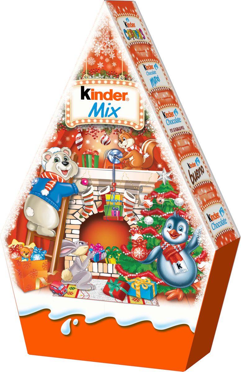 Kinder Mix подарочный набор, 199 г протеин 4uze протеин 4uze creatine молочный шоколад 750г